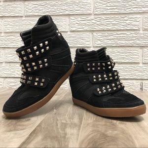 Black Suede | Stud Sneaker Booties